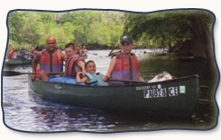Therpeutic campers on a canoe trip
